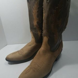 ACME Suede and Leather Cowboy Boots SZ 13 D